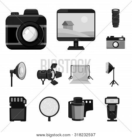 Isolated Object Of Professional And Accessories Icon. Collection Of Professional And Work Stock Symb