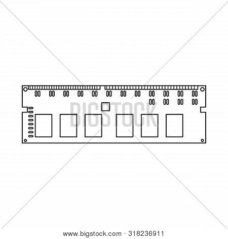 Isolated Object Of Memory And Ram Sign. Collection Of Memory And Megabytes Stock Vector Illustration