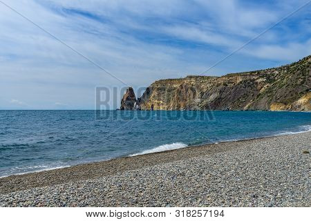 Landscape With A Rock In The Sea.