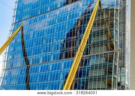 Milan, Italy - June 28, 2019: Detail From Allianz Tower By Arata Isozaki And Andrea Maffei In City L
