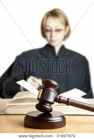 Gavel & female judge