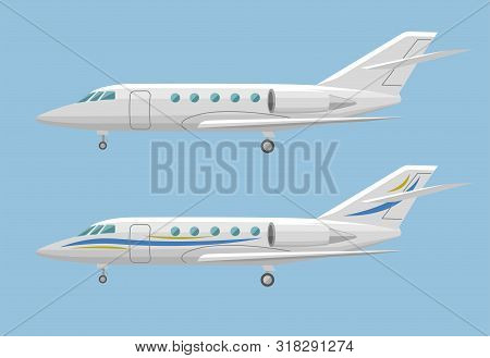 Private Jet Vector Icon. Business Jet Illustration