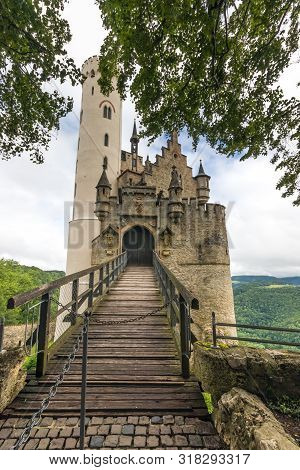 Tophill Lichtenstein Castle And Forest Overlooking The Valley