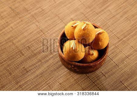 Traditional Indian Sweet / Dessert - Round Balls Made Of Gram Flour