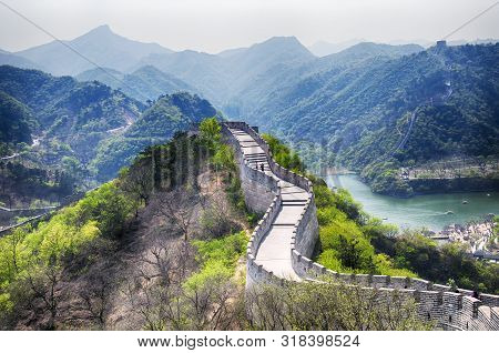 The Great Wall Of China At The Huanghua Cheng Scenic Area  In The West Of Beijing China On A Sunny S