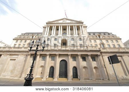 Bank Of England Old Building In London Uk