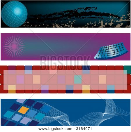 Four Hi-Tech. Modern Header Designs