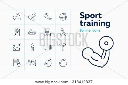 Sport Training Icons Vector & Photo (Free Trial) | Bigstock