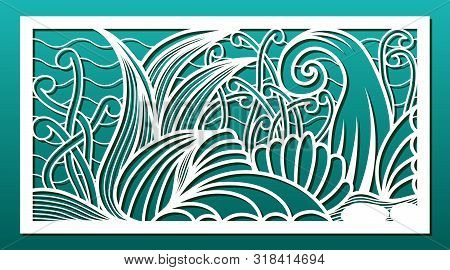 Laser Cut Panels, Vector. Template Or Stencil For  Metal Cutting, Wood Carving, Paper Art, Fretwork,