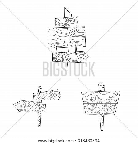 Isolated Object Of Hardwood And Material Symbol. Collection Of Hardwood And Wood Vector Icon For Sto