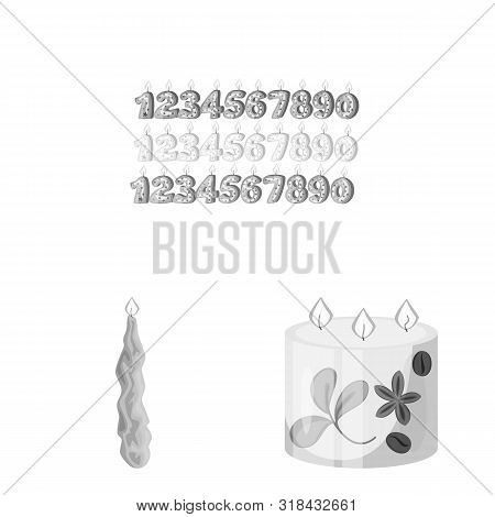 Vector Illustration Of Paraffin And Fire Icon. Collection Of Paraffin And Decoration Stock Symbol Fo