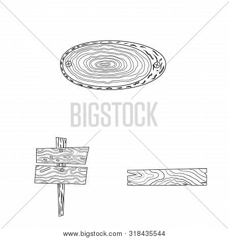 Vector Design Of Hardwood And Material Sign. Set Of Hardwood And Wood Stock Vector Illustration.