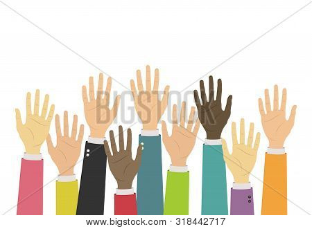 Raise Up Hands Icon. Volunteering, Charity, Donation, Education, Business Training Concept. Voluntee