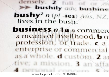The Definition Of Business