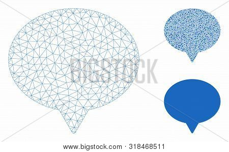 Mesh Hint Model With Triangle Mosaic Icon. Wire Frame Polygonal Mesh Of Hint. Vector Composition Of