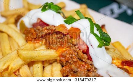 Delicious Loaded French Fries With Mexican Sauce