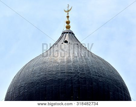 Dome Roof Of The Kapitan Keling Mosque In Penang, Malaysia.
