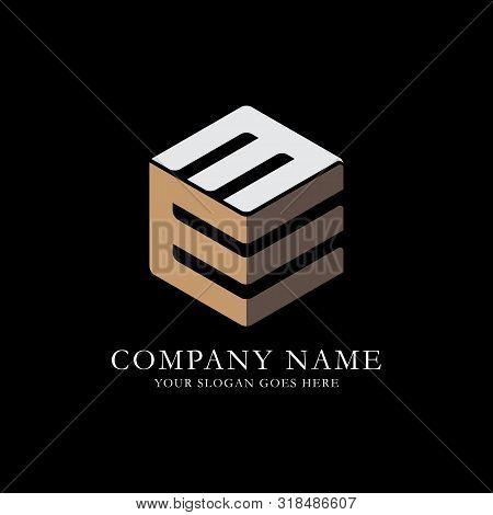 Em Initial Letter Logo Inspiration, E And M Combination Logo Vector With Hexagonal Idea
