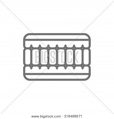 Orthopaedic Memory Foam Mattress Line Icon. Isolated On White Background