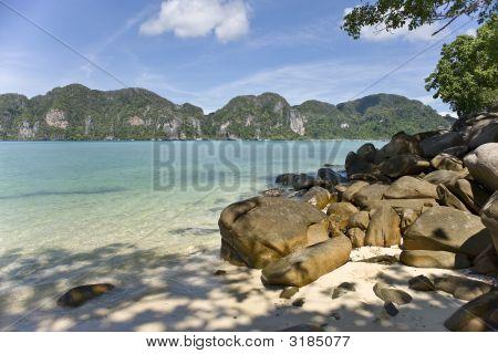 Rocks In Tropical Water