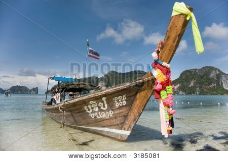 Longtail Boat At Koh Phi Phi