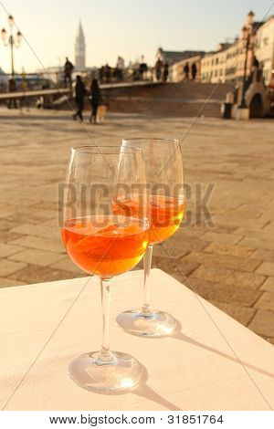 Two Glases Of Venetian Drink
