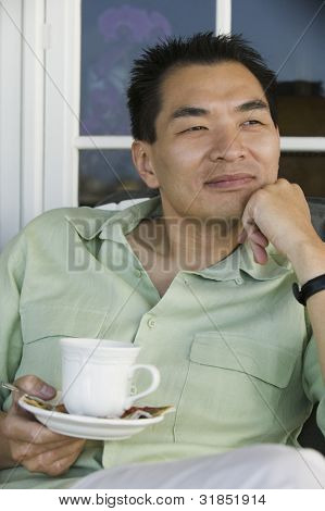 Man Enjoying Morning Coffee