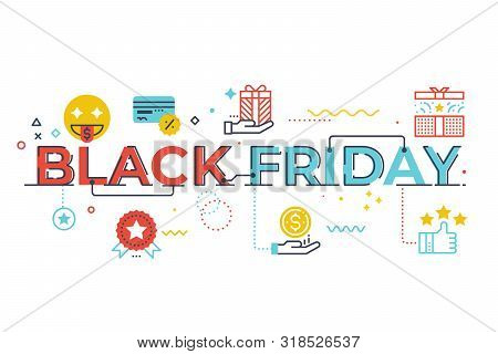 Black Friday Word Lettering Illustration