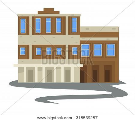 1940s Vintage Apartment Building, Multi-storey House Isolated Construction