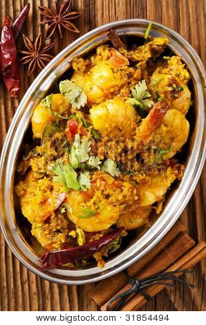 Prawns in cocolnat masala fry