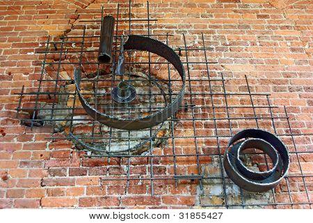 Iron And Bricks Installation