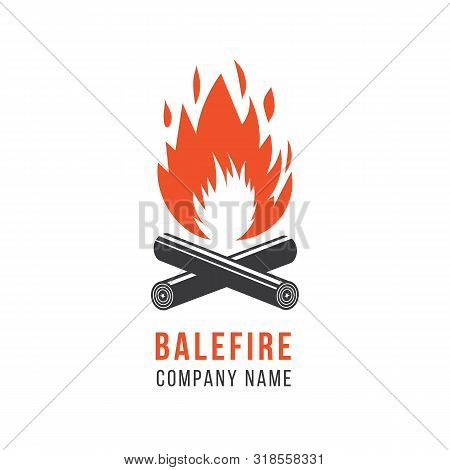 Company Logo Template, Symbol And Icon Of Fire And Balefire, Flame And Campfire.