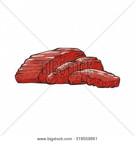 Sliced Beef Tenderloin Slices Of Red Meat.