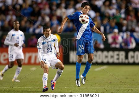 CARSON, CA. - JUNE 6: Guatemala player M Jonathan Lopez #24 in action during the 2011 CONCACAF Gold Cup group B game on June 6 2011 at the Home Depot Center in Carson, CA.