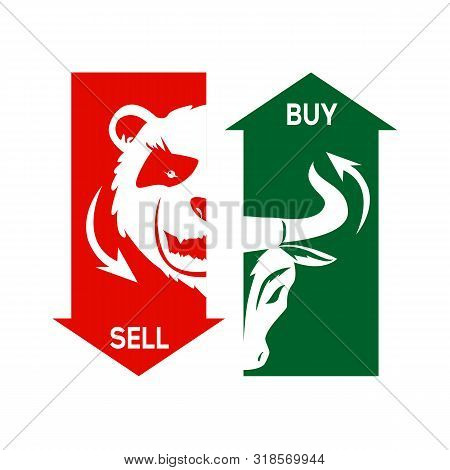 Stock Market. Bullish Schedule. Bear Schedule. Players On Exchange. Bulls And Bears Traders On A Sto