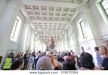London England - June 3, 2019: Unidentified People Visit British Museum London Uk