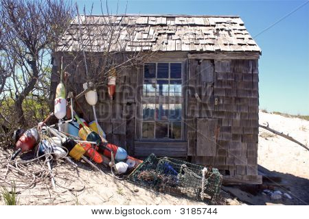 Beach Shack At Provincetown, Cape Cod