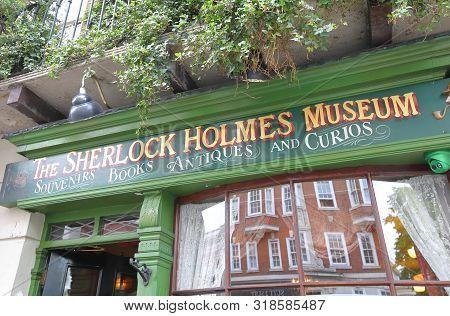 London England - June 3, 2019: Sherlock Holmes Museum London Uk.