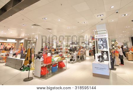 London England - June 4, 2019: Unidentified People Visit John Lewis And Partners Shopping Mall Oxfor