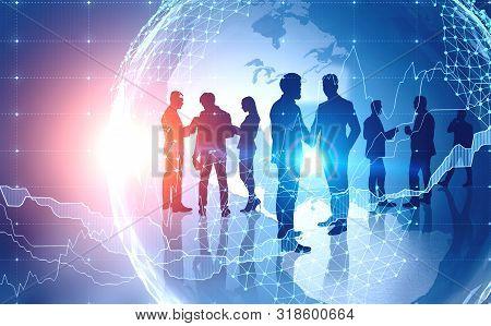 International Business Team Concept, Graphs