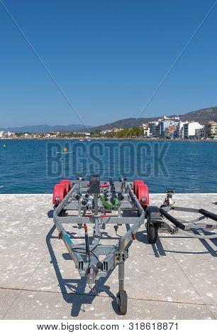 Trailer Boats Empty Image Photo Free Trial Bigstock