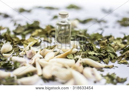 Neem Or Indian Lilac Face Mask Isolated On A White Surface For Skin Infection Of Neem Leaves Paste,