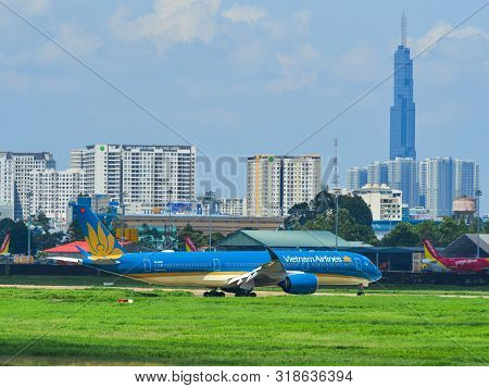 Airplane Taking-off From Tan Son Nhat Airport