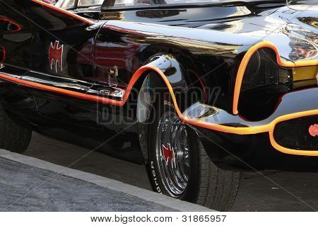 LOS ANGELES, CA - APR 5: The Batmobile at a ceremony where Adam West is honored with a star on the Hollywood Walk of Fame on April 5, 2012 in Los Angeles, California