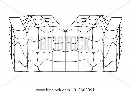 Vector Abstract Shape. Geometric Form For T-shirts App Interfaces Posters Postcards Patterns Logo De
