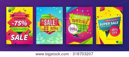Banner Sale Poster. Promotion Flyer, Discount Voucher Template Special Offer Market Brochure. Vector