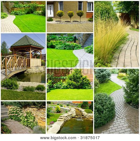 Picture of a Garden collage