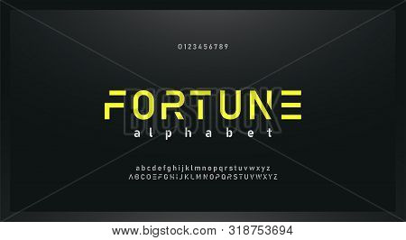 Urban Modern Alphabet Font And Number. Typography Future Creative Design Concept Fonts And Numbers.