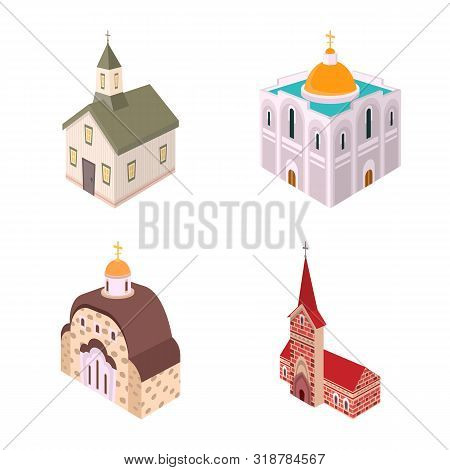 Vector Design Of Architecture And Building Icon. Collection Of Architecture And Clergy Vector Icon F