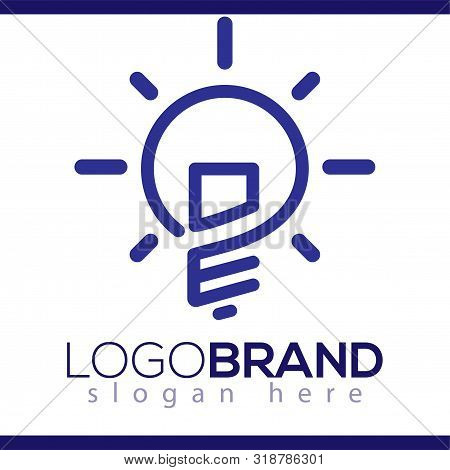 Os Initial Letter With Creative Bulb Logo Vector Element. Initial Letter Bulb Logo Template